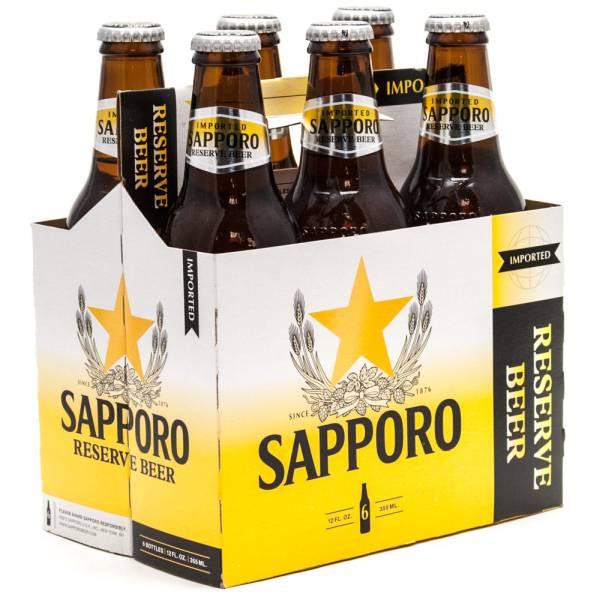 Sapporo - Reserve Beer - 12oz Bottle - 6 Pack