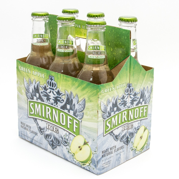 Smirnoff Ice - Green Apple- 11.2oz Bottle - 6 Pack