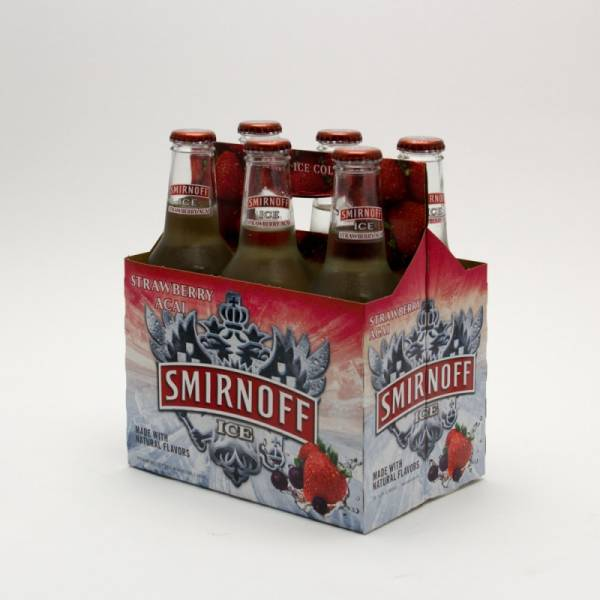 Smirnoff Ice - Strawberry Acai - 11.2oz Bottle - 6 Pack