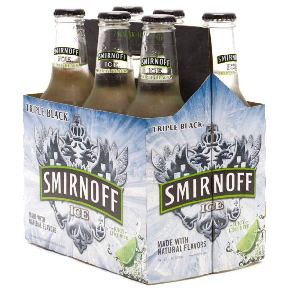 Smirnoff Ice - Triple Black Juicy Lime Bite - 11.2oz Bottle - 6 Pack