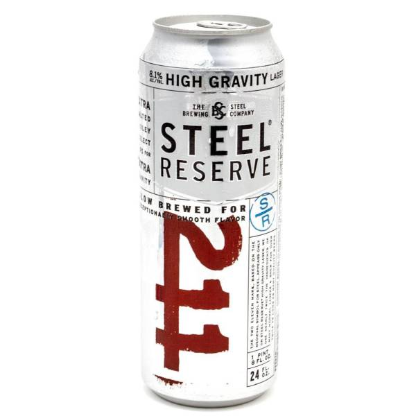 Steel Reserve 211 Lager 24oz Can Beer Wine And