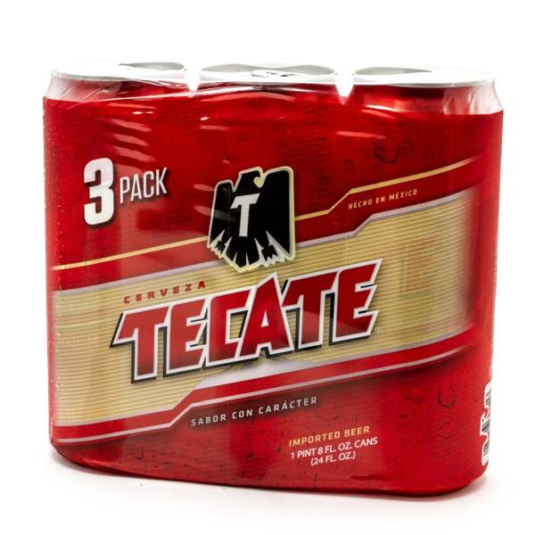 Tecate Beer 24oz Can 3 Pack Beer Wine And Liquor Delivered