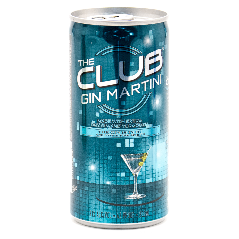 The Club Gin Martini 200ml Beer Wine And Liquor