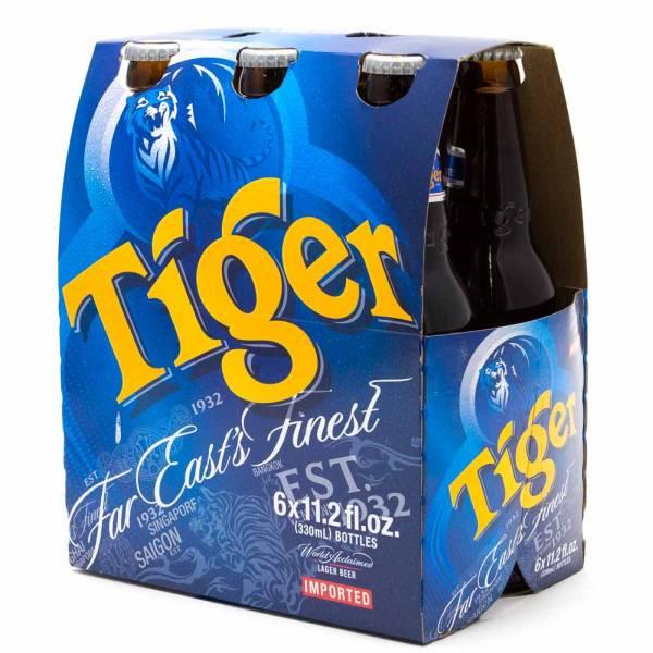 Tiger - Lager Beer - 11oz Bottle - 6 Pack