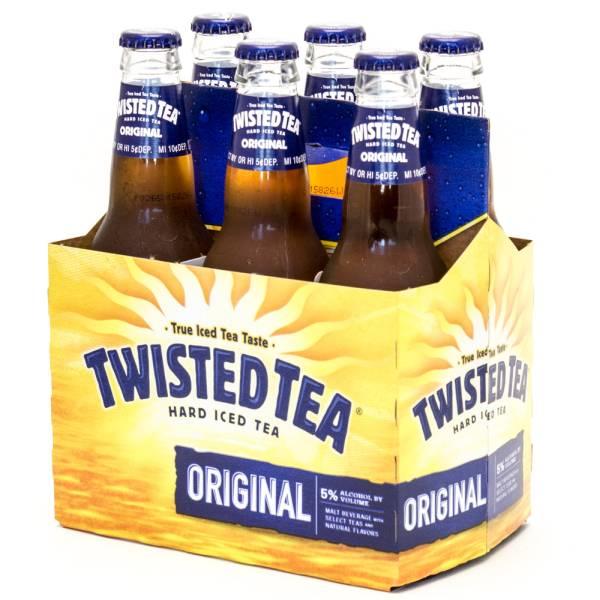 Twisted Tea Hard Iced Tea Original 12oz Bottle 6 Pack Beer