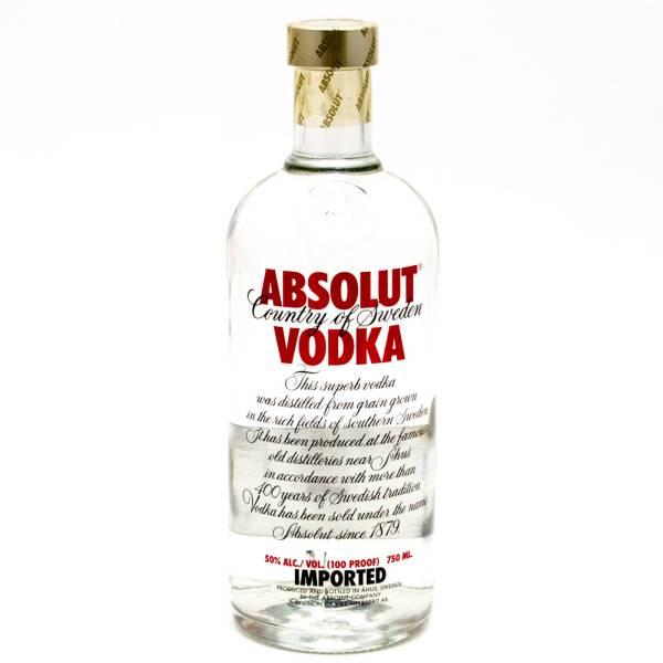 Absolut - Vodka - Blue 80 Proof - 750ml