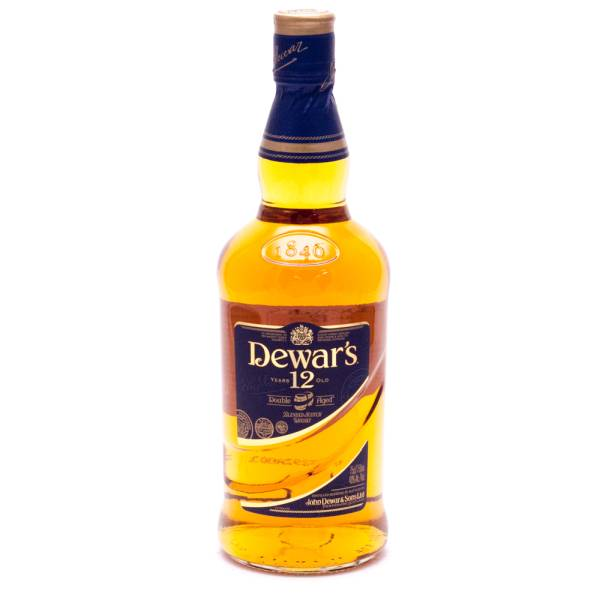 Dewar's - 12 Years Old Double Aged Blended Scotch Whiskey - 750ml