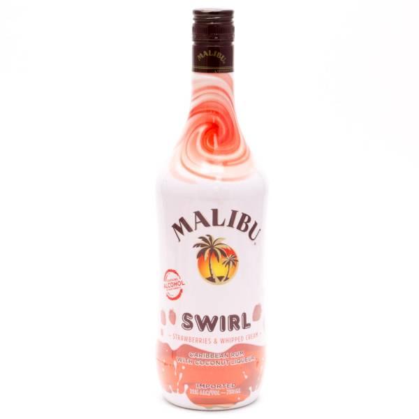 Malibu - Swirl Strawberried & Whipped Cream Rum - 750ml