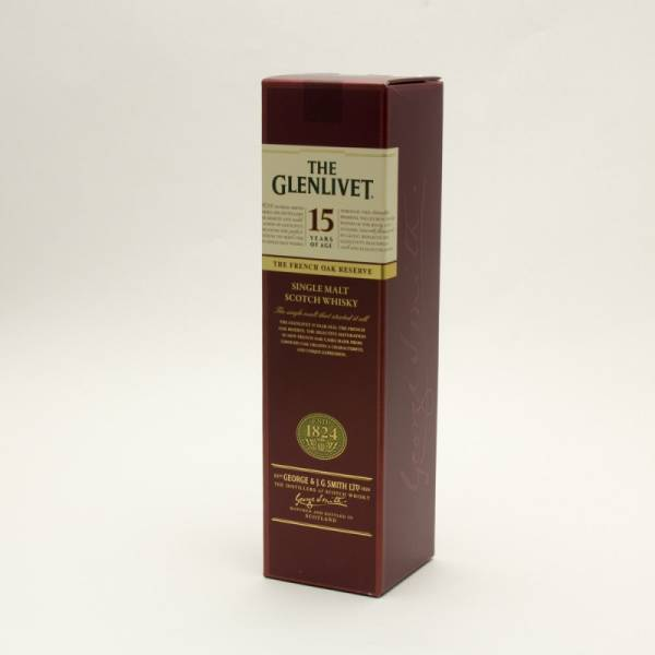 The Glenlivet - 15 - Single Malt Scotch Whiskey 15 Years Aged - 750ml
