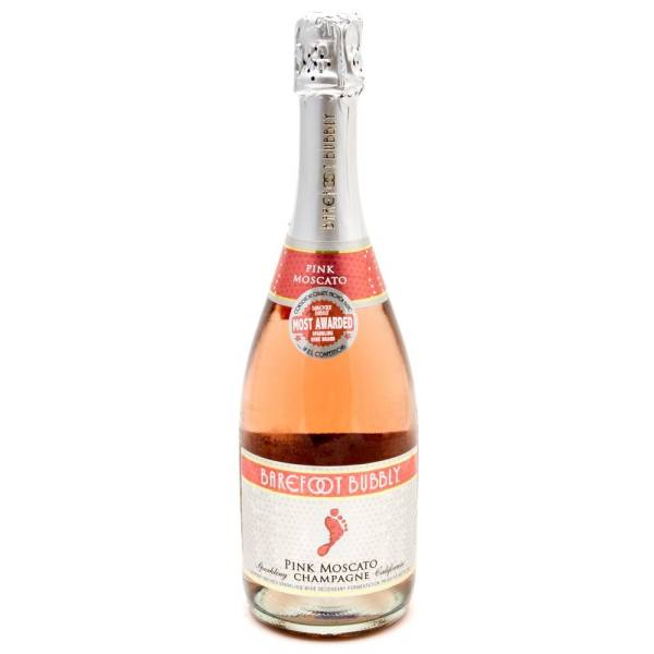 Barefoot - Bubbly Pink Moscoto Sparkling Champagne - 750ml
