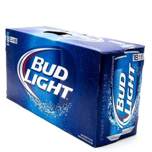 Bud Light - 18 pack cans