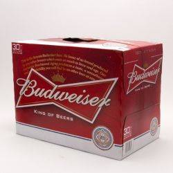 Budweiser - Beer - 12oz Can - 30 Pack