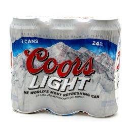 Coors - Light Beer - 24oz Can - 3 Pack