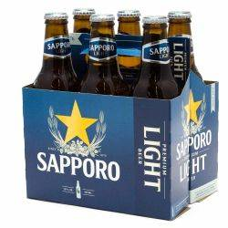 Sapporo - Premiuim Light Beer - 12oz...