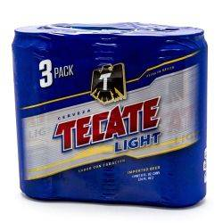 Tecate - Light Beer - 24oz Can - 3 Pack