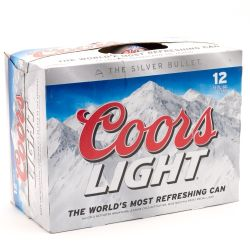 Coors light 12 pack cans