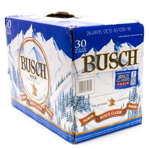 Busch - Beer - 12oz Can - 30 Pack