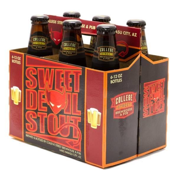 College Street Brewhouse & Pub - Sweet Devil Stout - 12oz Bottle - 6 Pack