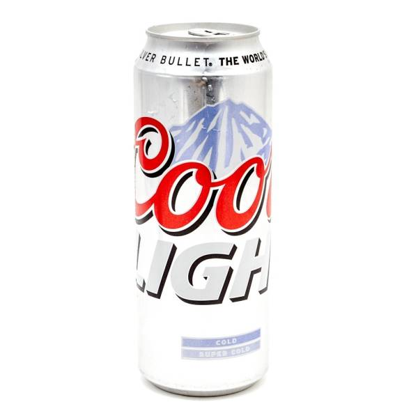 Coors Light Beer Silver Bullet 24oz Can