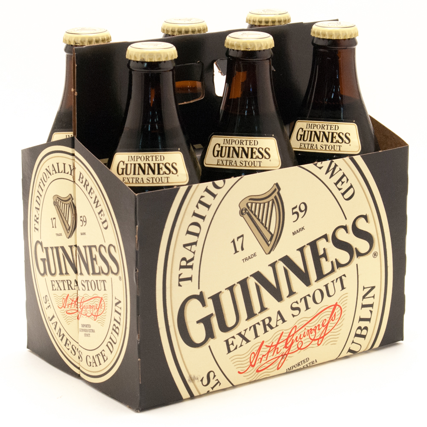 Guinness Extra Stout 11 2oz Bottle 6 Pack Beer