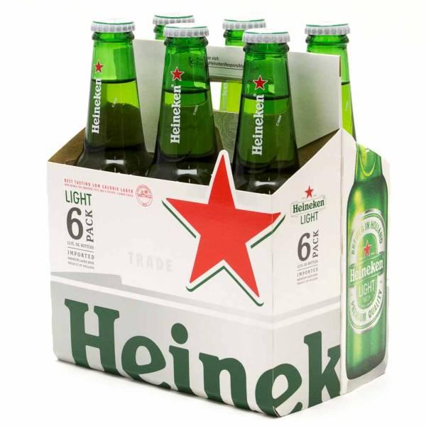 Heineken Light - 12oz Bottle - 6 Pack