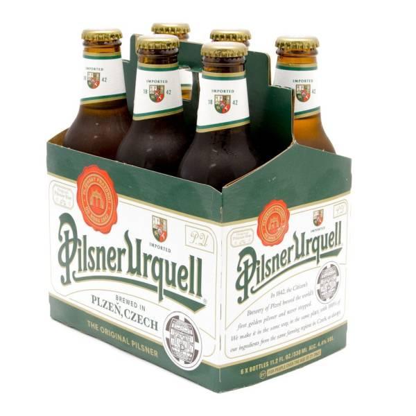 Pilsner Urquell - Imported Beer - 11.2oz Bottle - 6 Pack