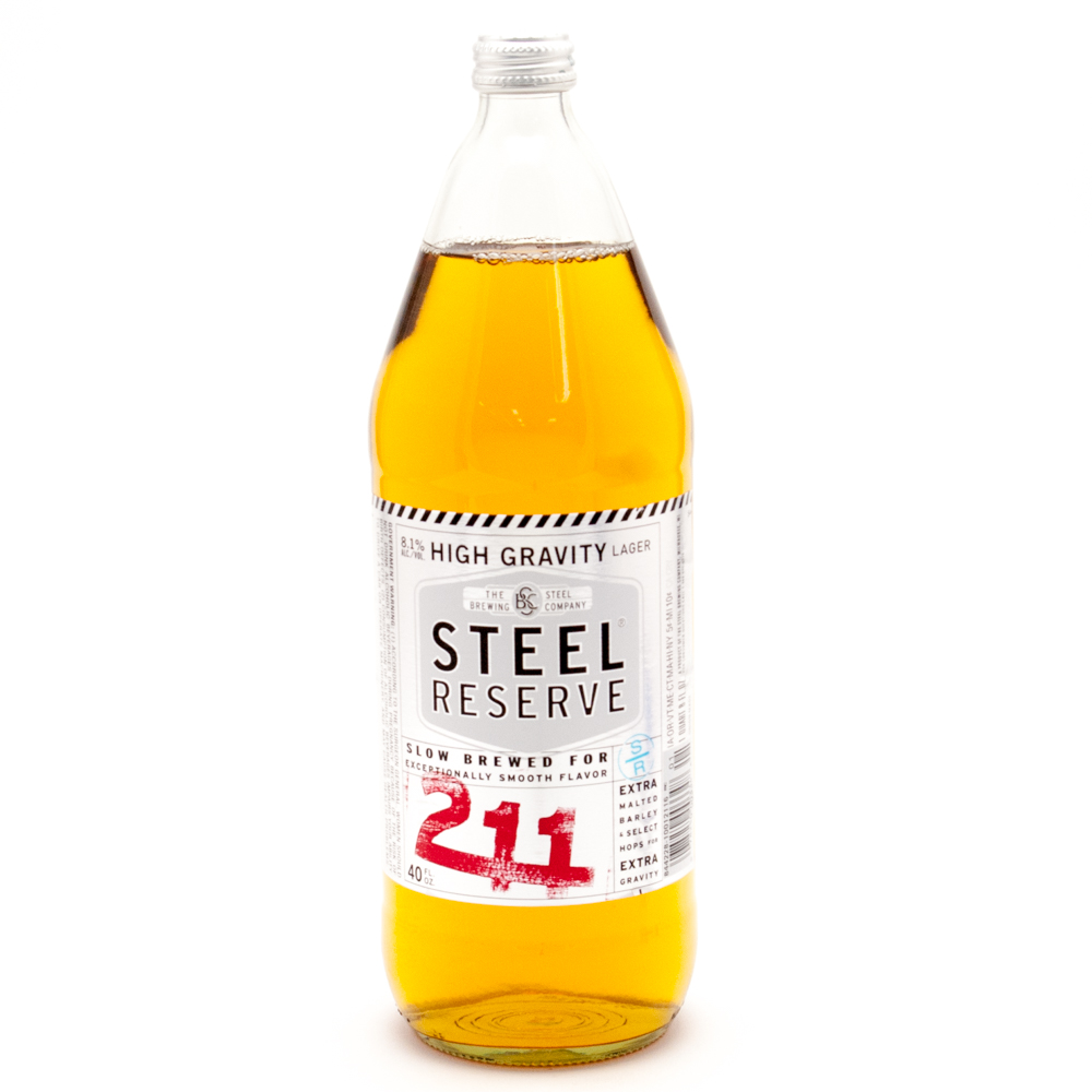 Steel Reserve - 211 High Gravity Lager - 40oz Bottle