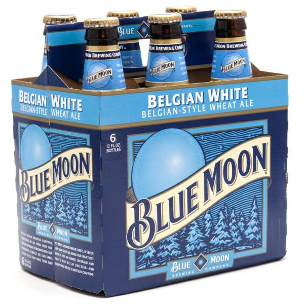 Blue Moon - Belgian White Wheat Ale - 12oz Bottle - 6 Pack