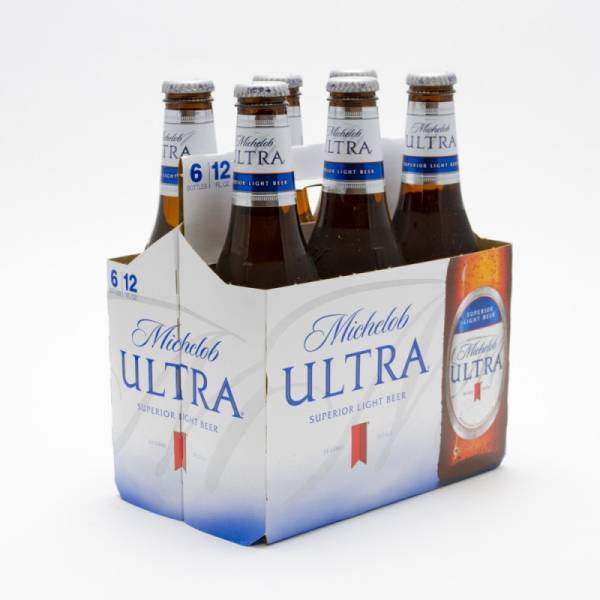 Michelob Ultra - Light Beer - 12oz Bottle - 6 Pack