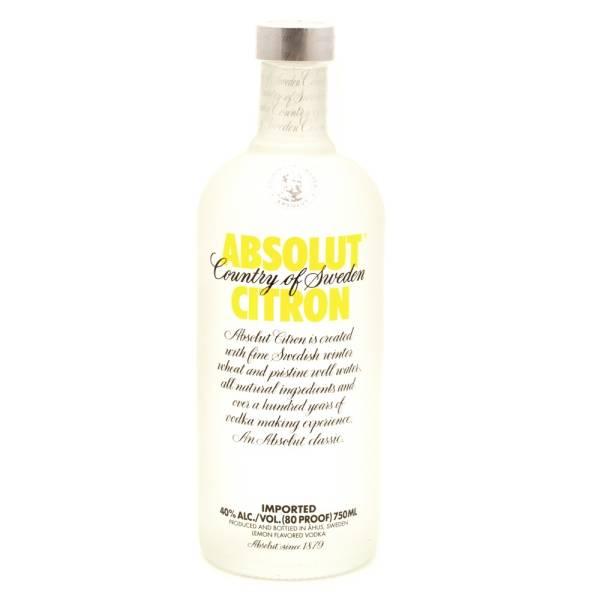 Absolut - Citron Vodka - 750ml