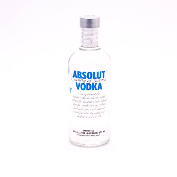 Absolut - Vodka - Blue 80 Proof - 375ml