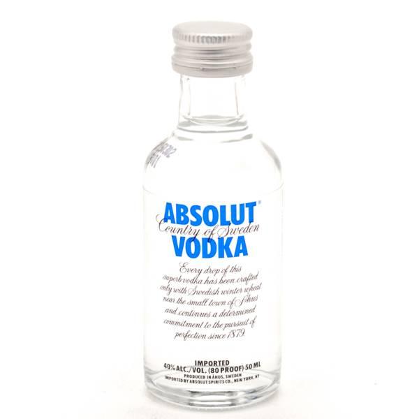 Absolut - Vodka - Blue 80 Proof - Mini 50ml