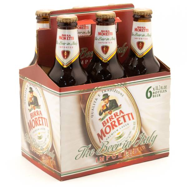 Bierra Moretti - Imported Italian Lager - 11.2oz Bottle - 6 Pack