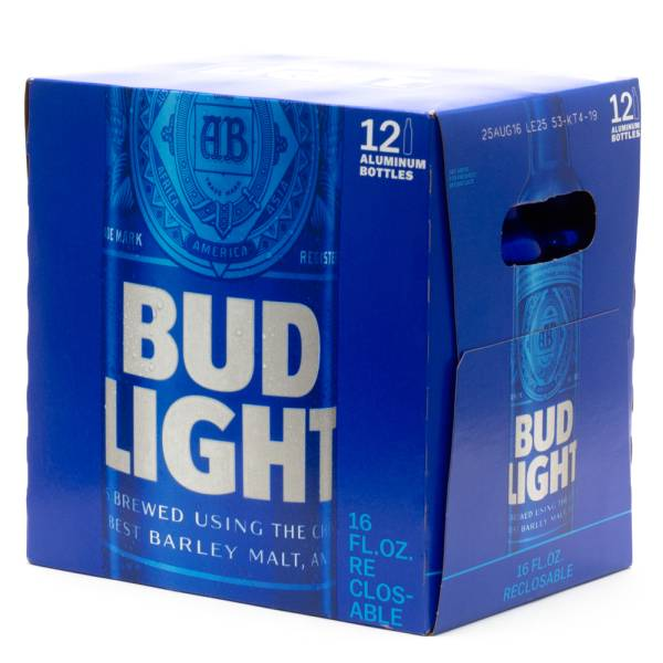 Bud Light - 16oz Aluminum Bottle - 12 Pack