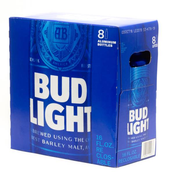 Marvelous Bud Light   16oz Aluminum Bottle   8 Pack Design