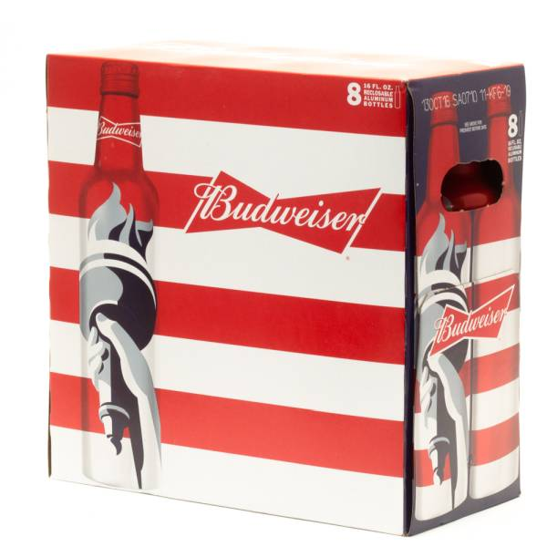 Budweiser - Beer - 16oz Aluminum Bottle - 8 Pack