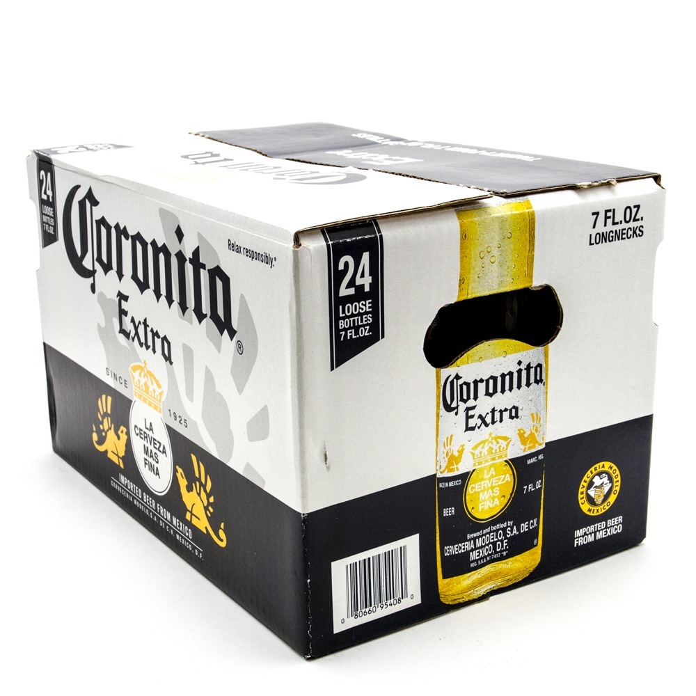 Corona Extra - Coronita Imported Beer - 7oz Bottle - 24 Pack