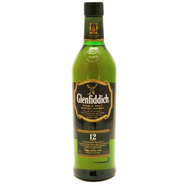 Glenfiddich - 12 Years Old Single Malt Scotch Whisky - 750ml