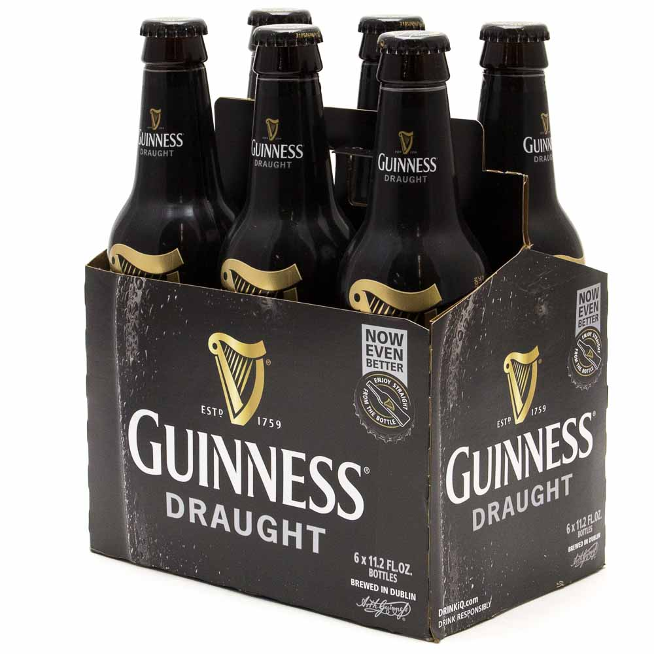 Guinness - Draught - 11.2oz Bottle - 6 Pack