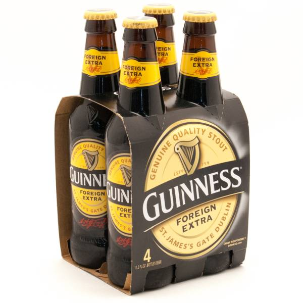 Guinness - Foreign Extra - 11.2oz Bottle - 4 Pack