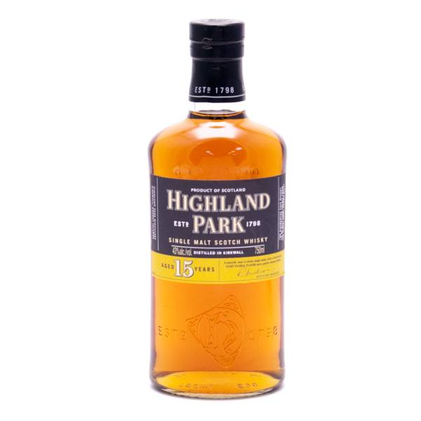 Highland Park - Aged 15 Years - Single Malt Scotch Whisky - 750ml