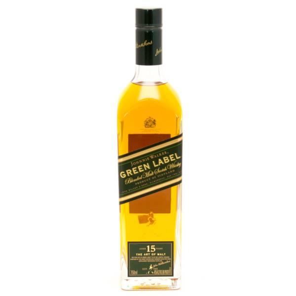 Johnnie Walker - Green Label - Blended Malt Scotch Whisky - Aged 15 Years - 750ml