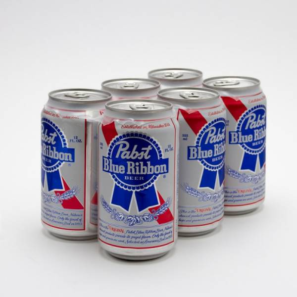 Pabst Blue Ribbon - Beer - 12oz Can - 6 Pack