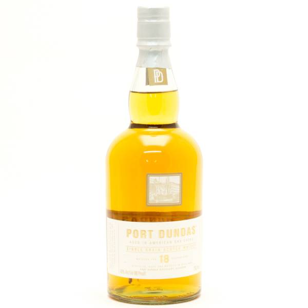 Port Dundas - Aged  18 Years - Single Grain Scotch Whisky - 750ml