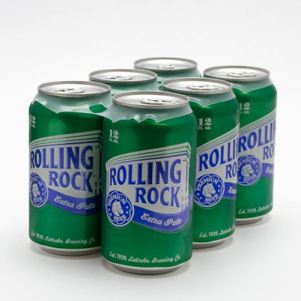 Rolling Rock Extra Pale Premium Beer 12oz Can 6 Pack