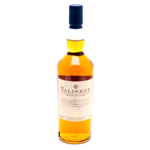 Talisker - Single Malt Scotch Whisky - 10 Years Old - 750ml
