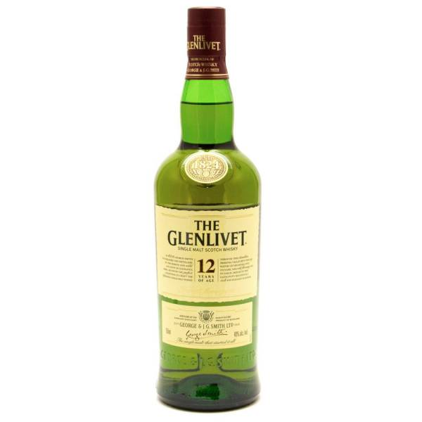 The Glenlivet - 12 - Single Malt Scotch Whiskey - 12 Years Aged - 750ml