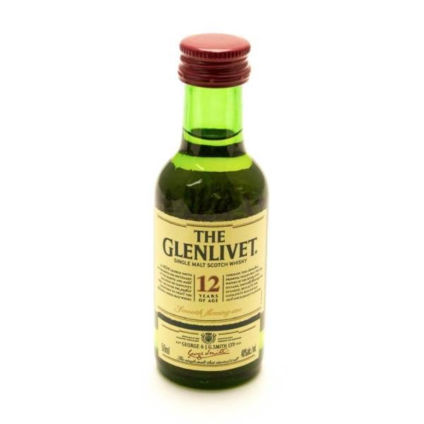 The Glenlivet - 12 - Single Malt Scotch Whiskey - 12 Years Aged - Mini 50ml