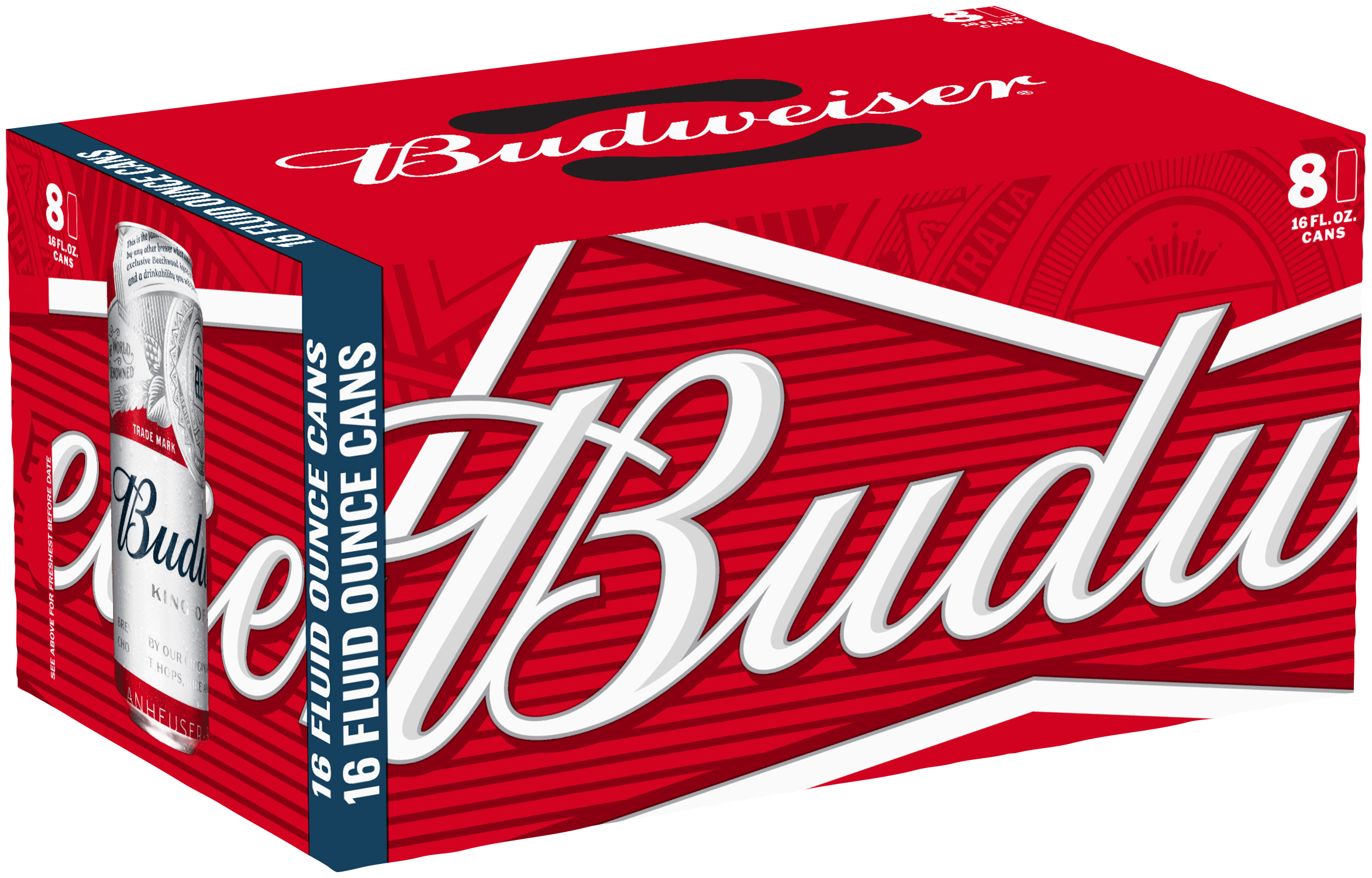 Budweiser - Beer - 16oz Can - 8 Pack
