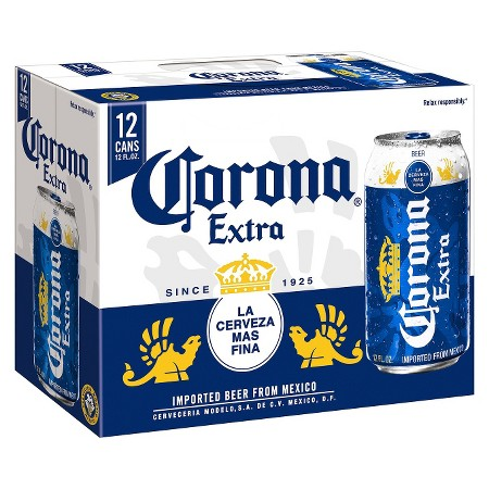 Corona Extra - Imported Beer - 12oz Can - 12 Pack